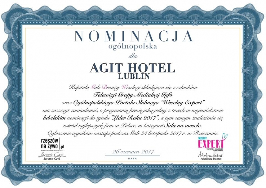 Sale weselne - AGIT Hotel Congress & SPA - SalaDlaCiebie.com - 42